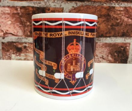10th Bn The Royal Inniskilling Fusiliers Drum Mug